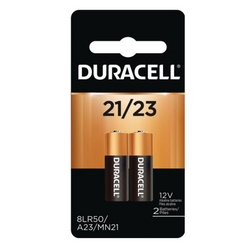 DURACELL 12V 21/23 COPPERTOP SPECIALITY ALKALINE BATTERY 2 PACK