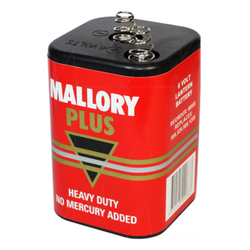 MALLORY PLUS 6V M-908 HEAVY DUTY CONSUMER LANTERN BATTERY