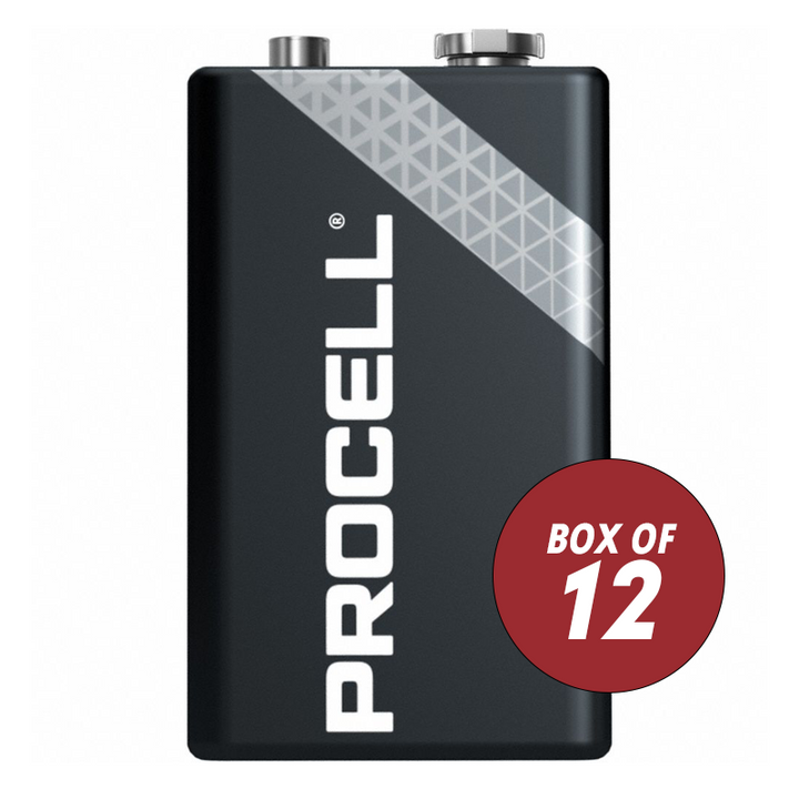 PROCELL 9V ALKALINE BATTERIES BOX OF 12