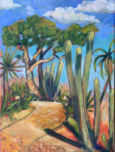 Original Oil Painting - Cactus Path
