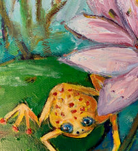 Load image into Gallery viewer, Original Oil Painting - Leap Frog