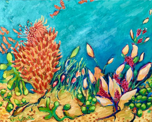 Oil Painting - Under the Sea