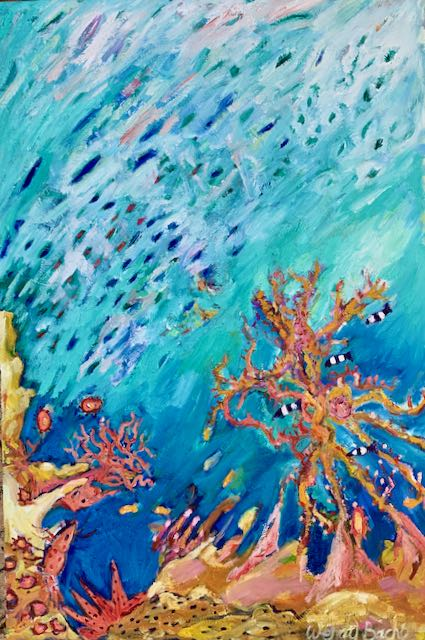 Original Oil Painting - Coral