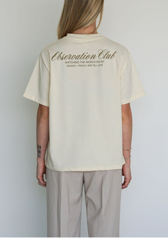 OBSERVATION CLUB TEE - CREAM