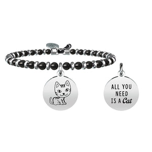 Bracciale Animal Planet Gatto Agata Nera Life 731451 Kidult