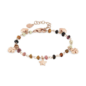 Bracciale Donna Acciaio Mon Amour ed Rainbow Charm Rose Pietre Dark Mixed Nomination