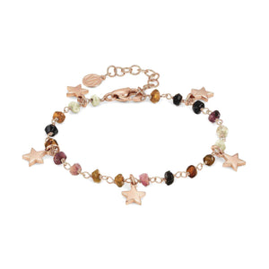 Bracciale Donna Acciaio Mon Amour ed Rainbow Stella Rose Pietre Dark Mixed Nomination
