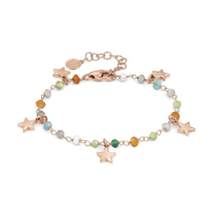 Bracciale Donna Acciaio Mon Amour ed Rainbow Stella Rose Pietre Mixed Nomination
