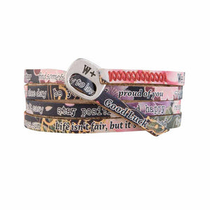 Bracciale Giapponese Nero Printes Collection Pelle WP214 - We Positive