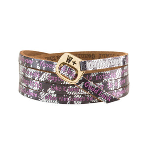Bracciale Pizzo Printes Collection Pelle WP226 - We Positive