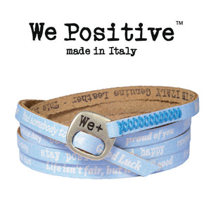 Bracciale We Positive Azzurro Vintage Collection Pelle WP107