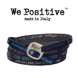 Bracciale We Positive Blu Vintage Collection Pelle WP130