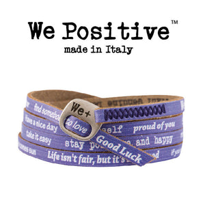 Bracciale We Positive Viola Vintage Collection Pelle WP108