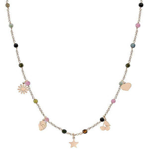 Collana Donna Acciaio Rose Charm Amour Nomination