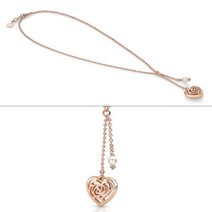 Collana Donna Cuore con Perla Swarovski Roseblush 131403/011 - Nomination