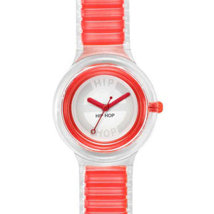 Hip Hop Sheer Orologio Da Polso Donna Red HWU0446