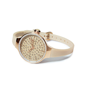Orologio Donna Chérie Diamond Gold Beige 2483LGD-02 - Hoops