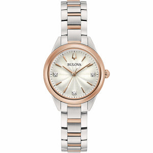 Orologio Donna Diamonds Sutton Silver Rose Bulova
