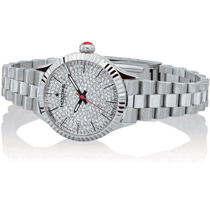 Orologio Donna Luxury Full Diamonds Silver Hoops