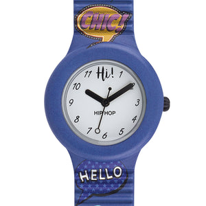 Orologio Donna Patch Blu HWU0796 Hip Hop