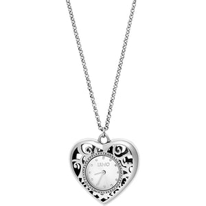 Orologio Donna a Collana Silver Heart Liu Jo Luxury