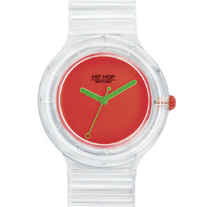 Orologio Unisex See Through Orange Fluo HWU0941 Hip Hop