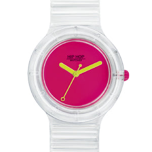 Orologio Unisex See Through Pink Fluo HWU0940 Hip Hop