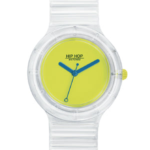 Orologio Unisex See Through Yellow Fluo HWU0942 Hip Hop