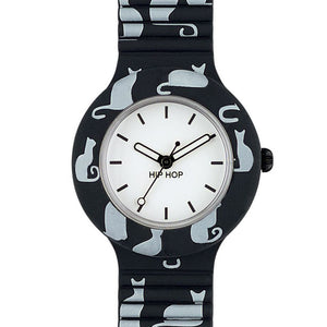 Orologio da Polso Donna Nero Animals Add HWU0617 - Hip Hop