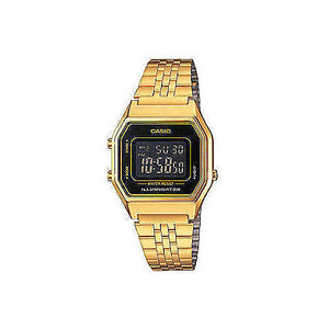 Orologio Casio Vintage Digitale Retro Gold Plated Unisex LA680WEGA-1BER