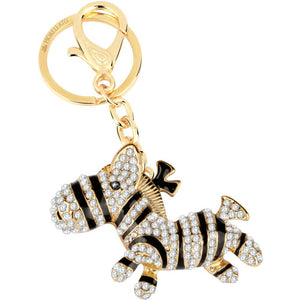 Portachiavi Donna Magic Zebra Gold con Cristalli Morellato