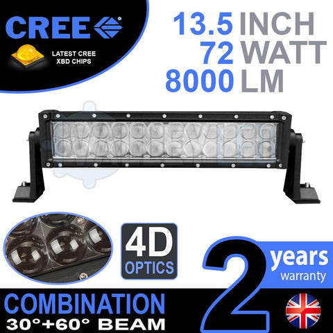 "13.5"" 4D 72w Cree Combo LED Light Bar"