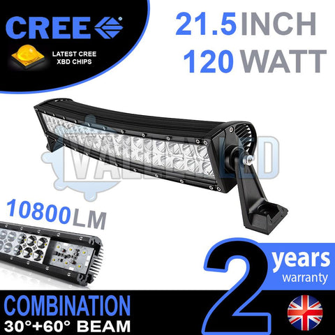 "21.5"" 120w Cree Combo Curved LED Light Bar"