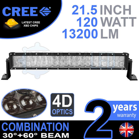 "21.5"" 4D 120w Cree Combo LED Light Bar"