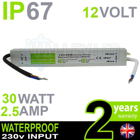 IP67 12V DC 30w 2.5A 230v Waterproof Power Supply