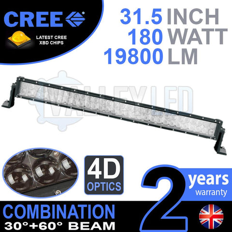 "31.5"" 4D 180w Cree Combo LED Light Bar"
