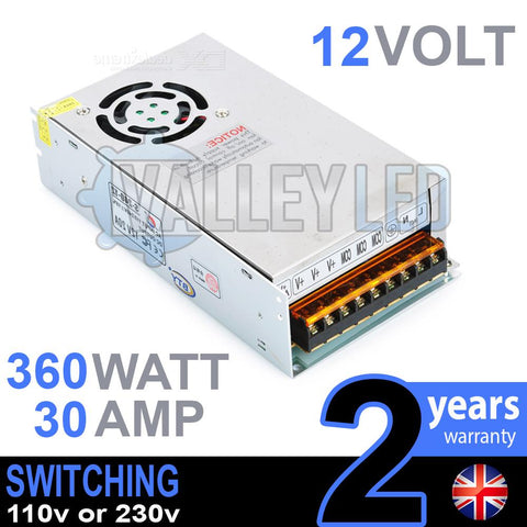 12V DC 360w 30A 230v 110v Switching Power Supply
