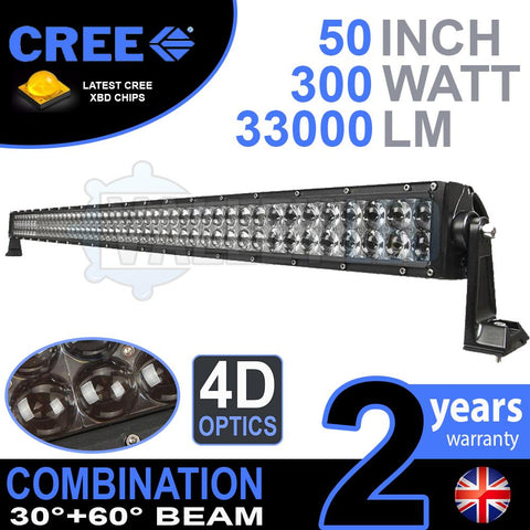 "52"" 4D 300w Cree Combo LED Light Bar"
