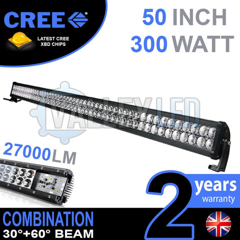 "52"" 300w Cree Combo Straight LED Light Bar"