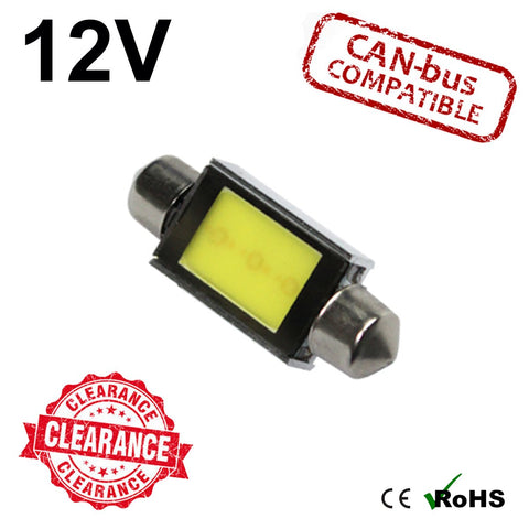 12v 39mm 3w COB Festoon LED Bulb (canbus)