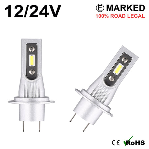 2 x H7 LED Headlight Bulbs - 4000LM