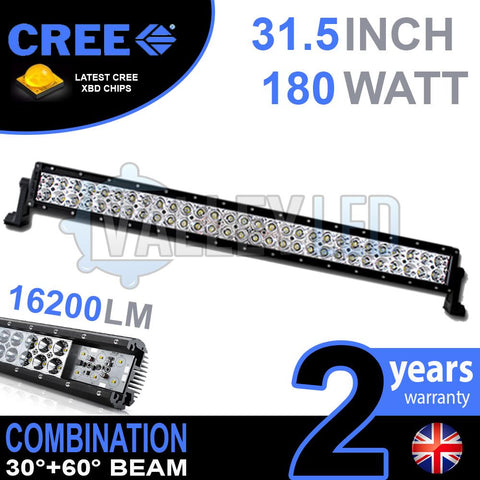 "31.5"" 180w Cree Combo Straight LED Light Bar"