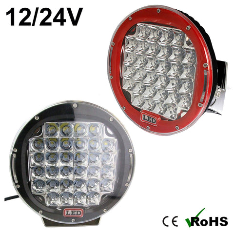 "160w 9"" Round Cree LED Work Light (Red/Black)"