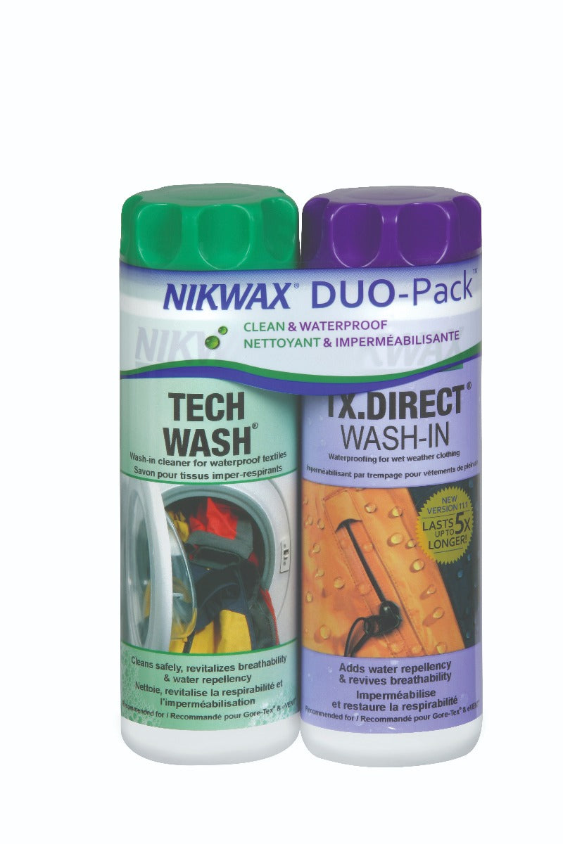 Nikwax Hardshell Clean/Waterproof DUO-Pack