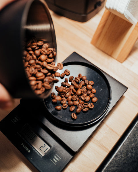 Weighing Coffee To Brew