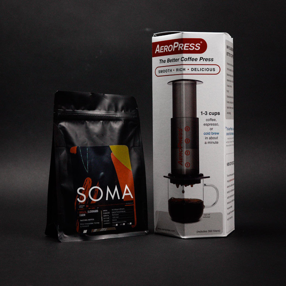 AeroPress Coffee Maker And Beans Bundle