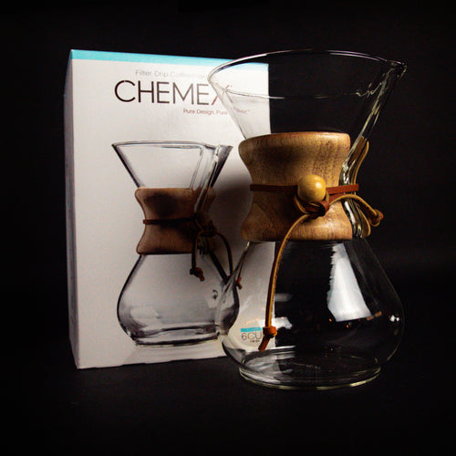 Chemex Pour Over Coffee Maker 3-6 Cup unboxed