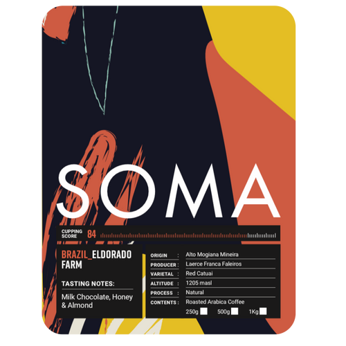 Soma Coffee Company Brazil Eldorado Label And Coffee Details