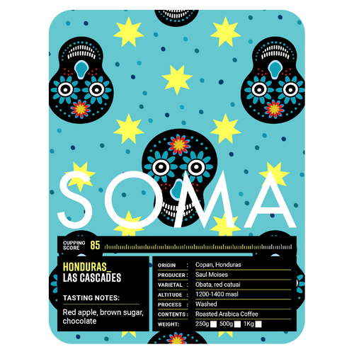 Soma Coffee Company Honduras Las Cascades Coffee Label
