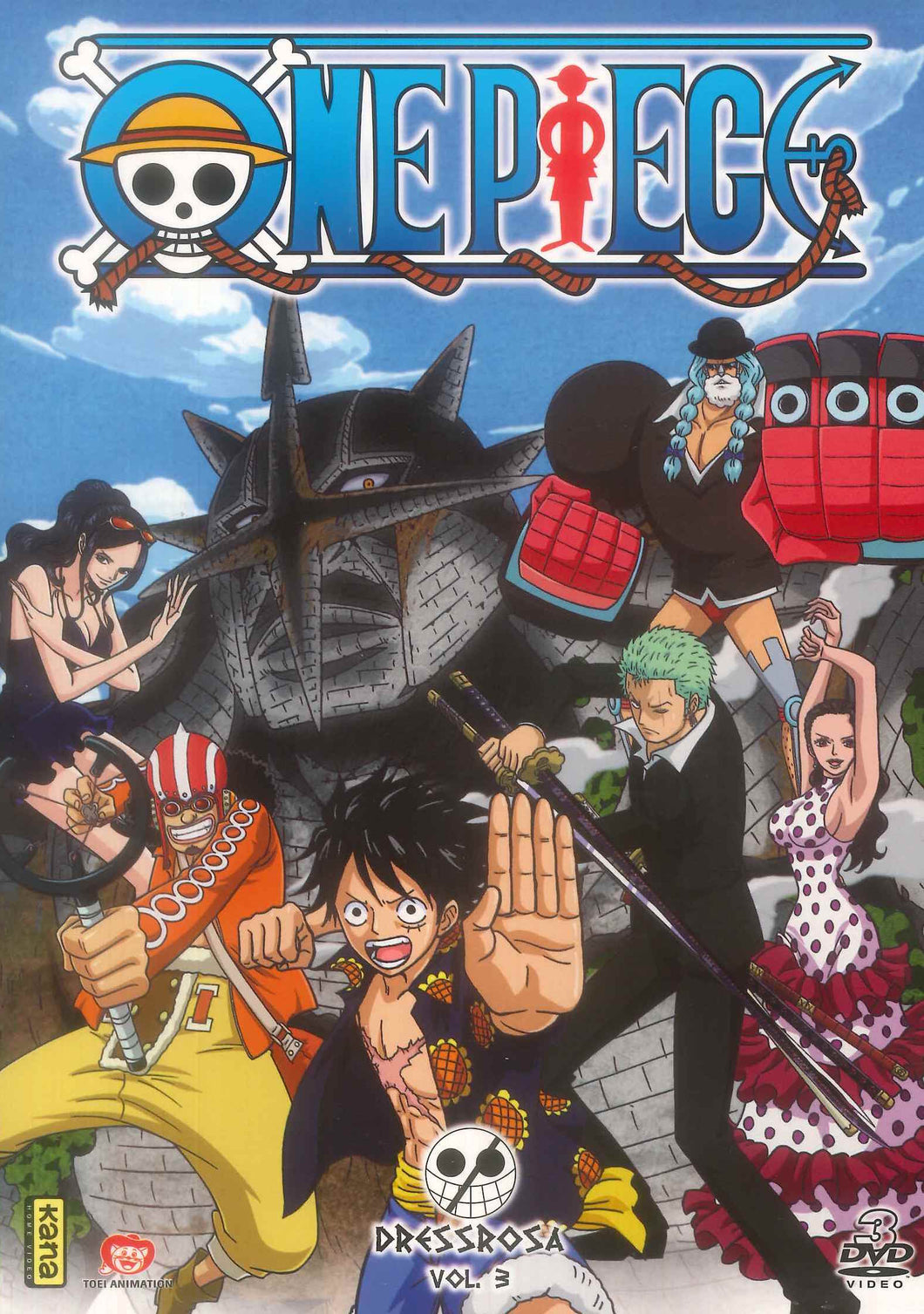 ONE PIECE DRESSROSA - Vol 3 (4DVD)